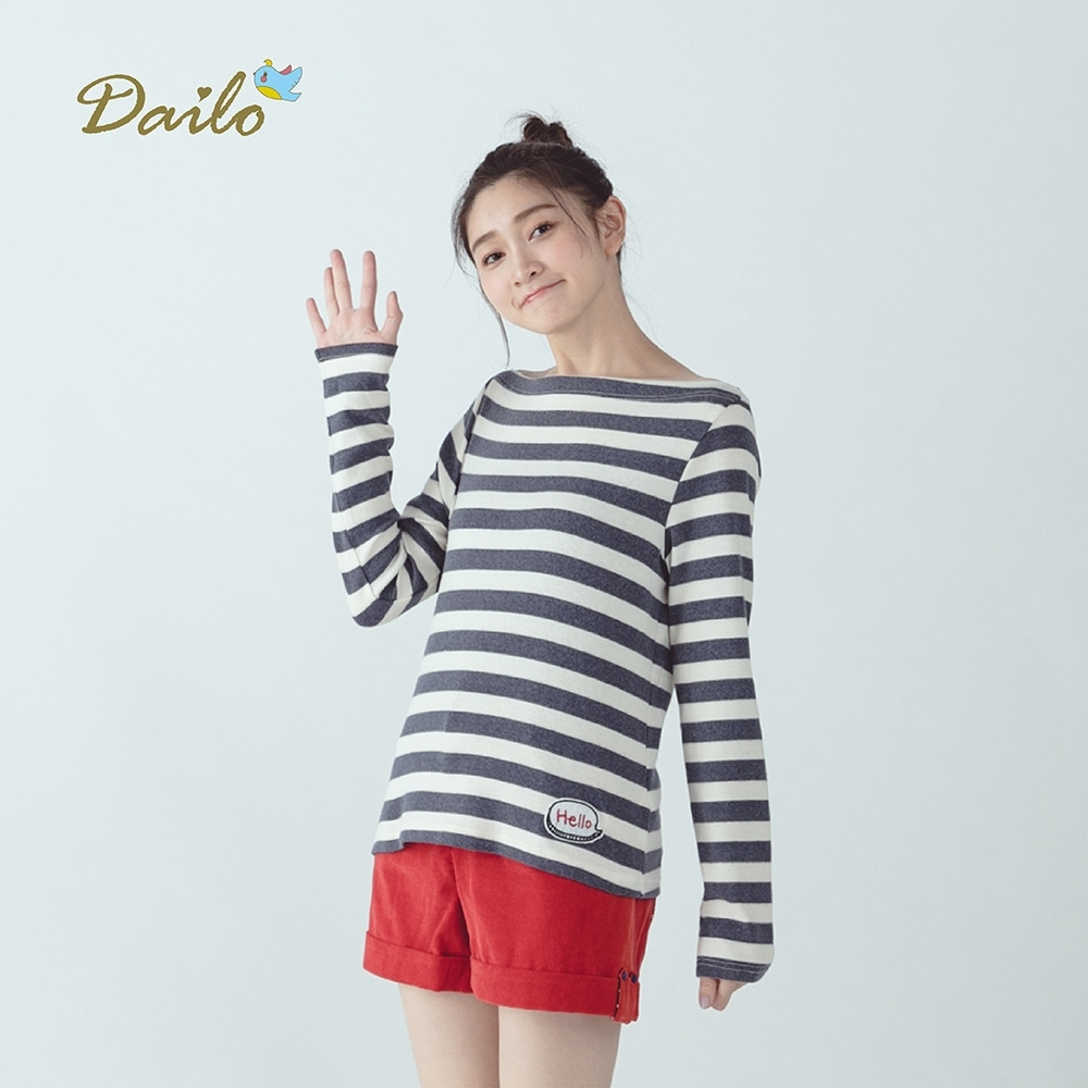 【Dailo】簡約百搭條紋-針織衫(三色)