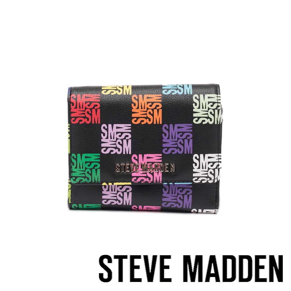 STEVE MADDEN-BVICKL 方格多彩短夾-黑色