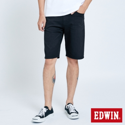 EDWIN 大尺碼 JERSEYS 迦績 EJ9 涼感 EFS 休閒短褲-男-黑色