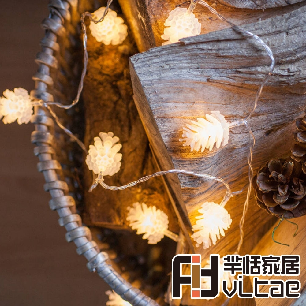 Fit Vitae羋恬家居 節慶居家佈置LED燈飾(暖白松果-3m)