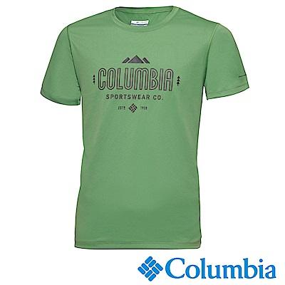 Columbia哥倫比亞 男款-快排短袖上衣-蘋果綠 UAE12950AP