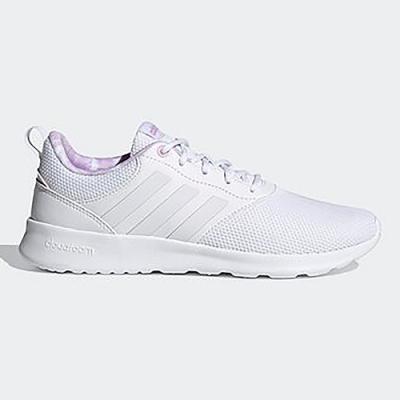 ADIDAS 慢跑鞋 輕量 透氣 運動鞋 女鞋 白紫 FY8316 QT RACER 2.0