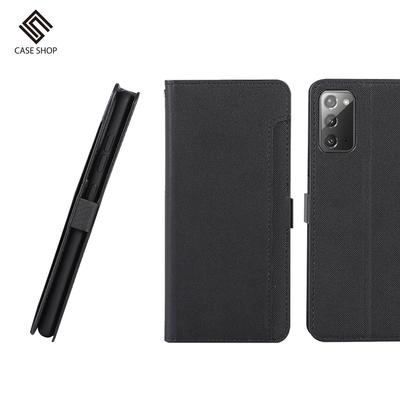 CASE SHOP SAMSUNG Galaxy Note 20 專用前插卡側立式皮套-黑