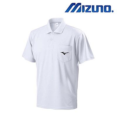 MIZUNO 美津濃 男短袖排汗POLO衫 白 32TA801501