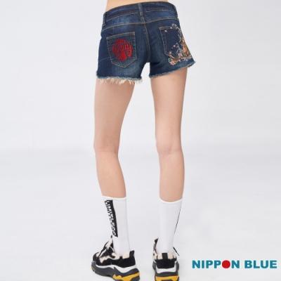 日本藍  BLUE WAY  -  日本藍鯉魚牛仔短褲(女款)