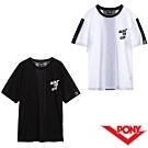 【PONY】透氣短袖上衣T恤 男款兩色 白 黑