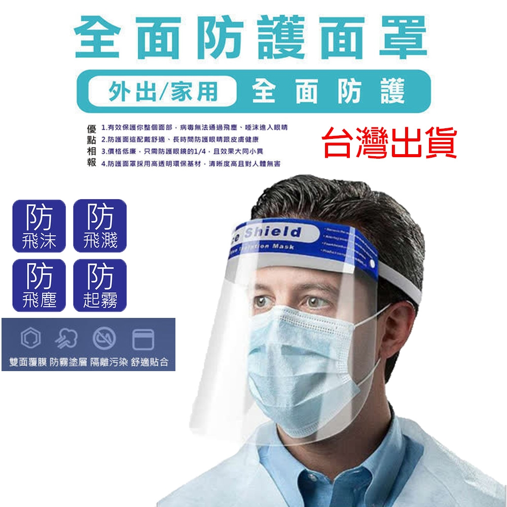 防疫面罩- (非醫療口罩/防飛沫/透明口罩)