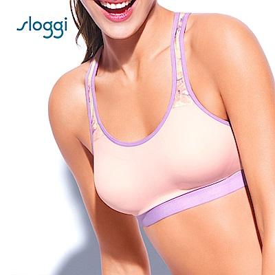sloggi Dynamic 無鋼圈運動內衣D罩杯  粉紫