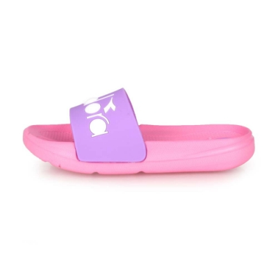 DIADORA 中童運動拖鞋 粉紅紫白