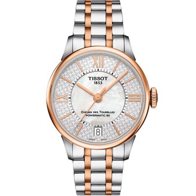 TISSOT 天梭杜魯爾瑞士特別款機械腕錶 T0992072211801-33mm @ Y!購物