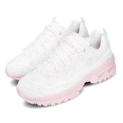 Skechers 休閒鞋 Energy 厚底 增高 女鞋 老爹鞋 反光 穿搭 避震 緩衝 支撐 白 粉 88888410WPK