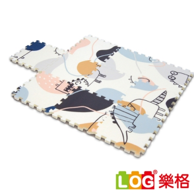 LOG樂格 XPE環保無毒巧拼地墊X10片組-小怪獸 (每片30X30cm)
