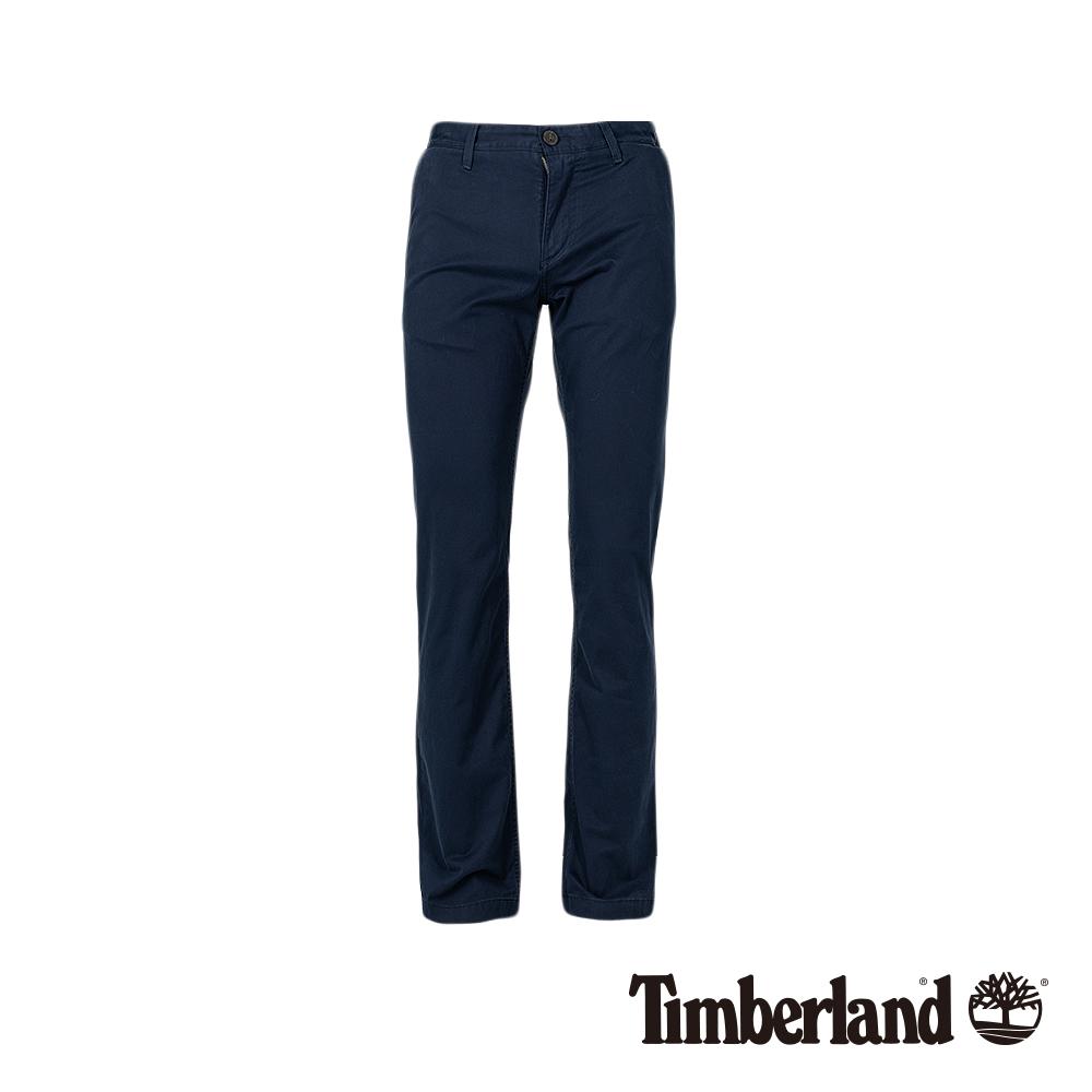 Timberland 男款深藍色直筒彈力斜紋布長褲 A1VUA