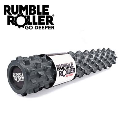【Rumble Roller】深層按摩滾輪 狼牙棒 長版76cm 強化版硬度(瑜珈柱 按摩滾筒 筋膜放鬆 瑜珈滾筒)