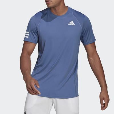 ADIDAS 上衣 短袖上衣 運動 慢跑 休閒 男款 藍 GH7227 CLUB TENNIS
