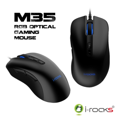 irocks M35 RGB 光磁微動電競滑鼠