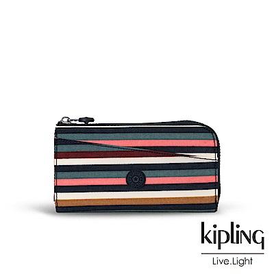 Kipling繽紛仲夏條紋長夾