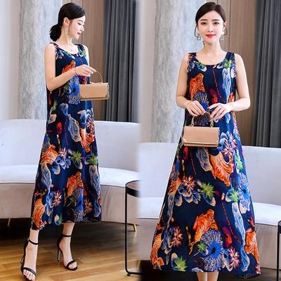 [韓國K.W.]-(預購)絲棉質感受水靈秀氣莊園長洋裝