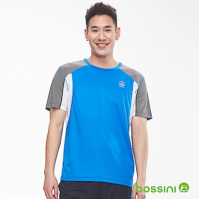bossini男裝-ZtayDry快乾圓領短袖T恤03淡藍