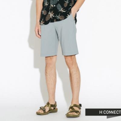 H:CONNECT 韓國品牌 男裝-輕薄微彈收繩短褲-藍