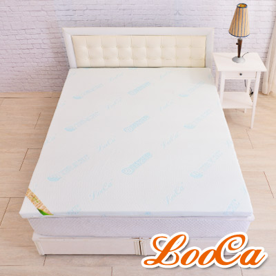 LooCa 水漾天絲七段式無重力乳膠床墊-加大6尺