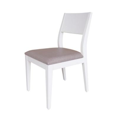 Boden-喬妮白色皮面實木餐椅/單椅(兩色可選)
