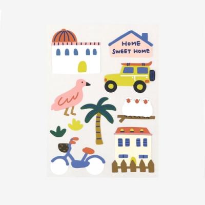 Dailylike 童萌裝飾手帳貼紙(可複貼)-05村莊