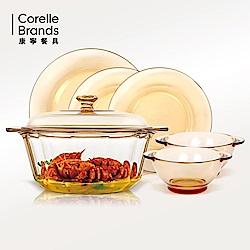 康寧晶鑽鍋3.5L+餐盤6件
