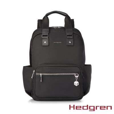 【Hedgren】CHARM旅行雙側袋13 後背包-烏黑