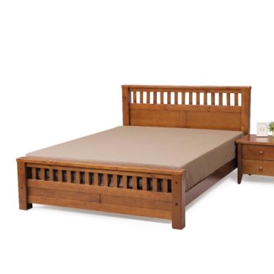 MUNA 雪莉6尺實木雙人床(不含床頭櫃) 186X206X97cm