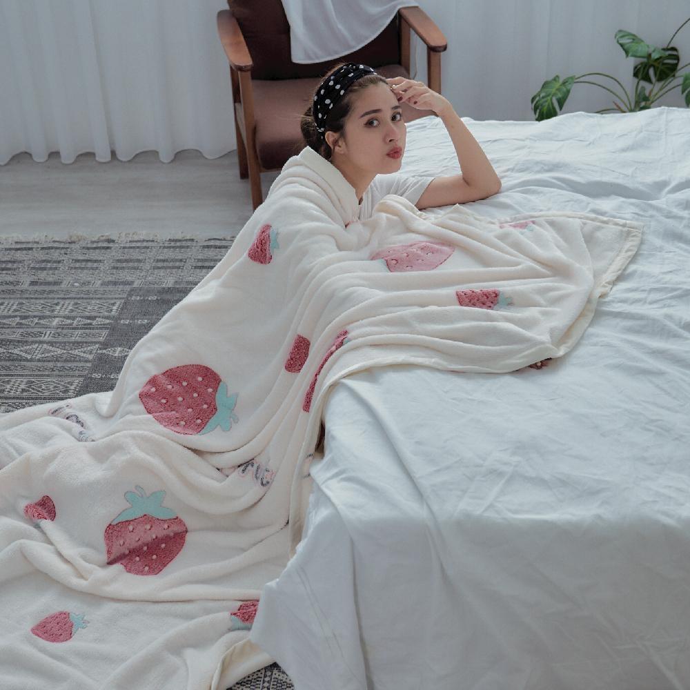 BUHO 防靜電立體新魔絨毯(150x200cm)-莓果咬一口