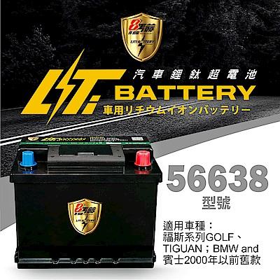 日本KOTSURU-8馬赫鋰鈦汽車啟動電瓶 56638 / 50Ah