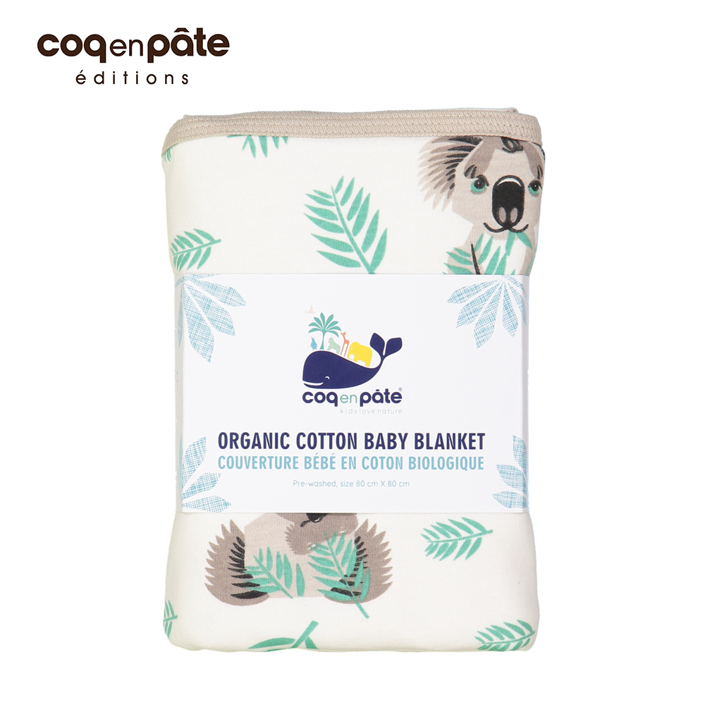 【COQENPATE】法國柔柔攜帶有機被毯 - 無尾熊