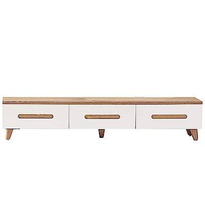 品家居 蜜卡朵6尺木紋雙色長櫃/電視櫃-180x40x36.5cm免組