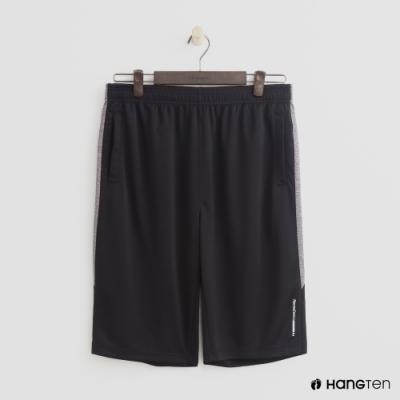 Hang Ten - 男裝 - ThermoContro-純色運動機能短褲 - 黑