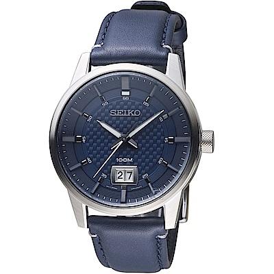 SEIKO精工CS縱橫城市時尚腕錶(SUR287P1)-藍