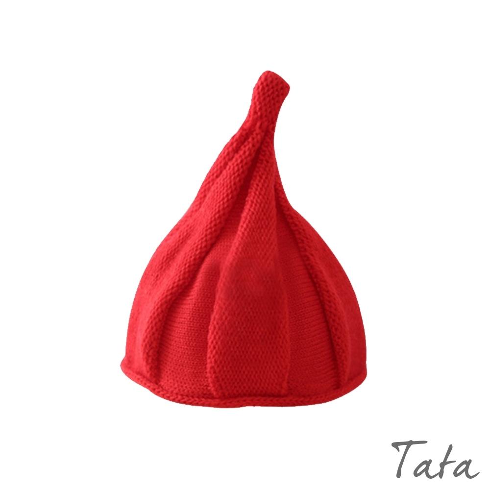 童裝 素色針織織紋水滴帽 TATA KIDS