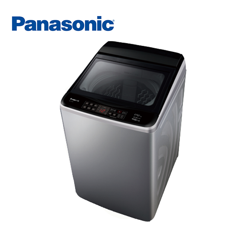 Panasonic國際牌 17KG 變頻直立式洗衣機 NA-V170GT-L 炫銀灰