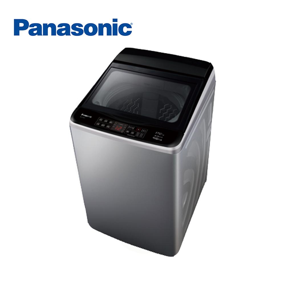 [無卡分期-12期]國際牌 17KG 變頻直立式洗衣機 NA-V170GT-L 炫銀灰