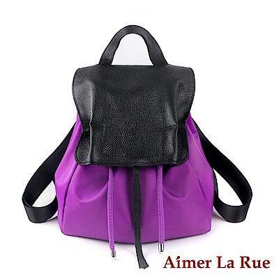 Aimer La Rue 後背包 真皮尼龍俏麗洋裝系列(三色)