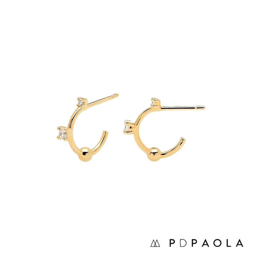 PD PAOLA 西班牙輕奢時尚品牌 極簡迷你鋯石耳環