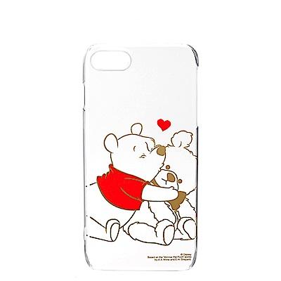 iPhone 8/7 海外限定 迪士尼 PC金箔透明 硬殼4.7吋-維尼