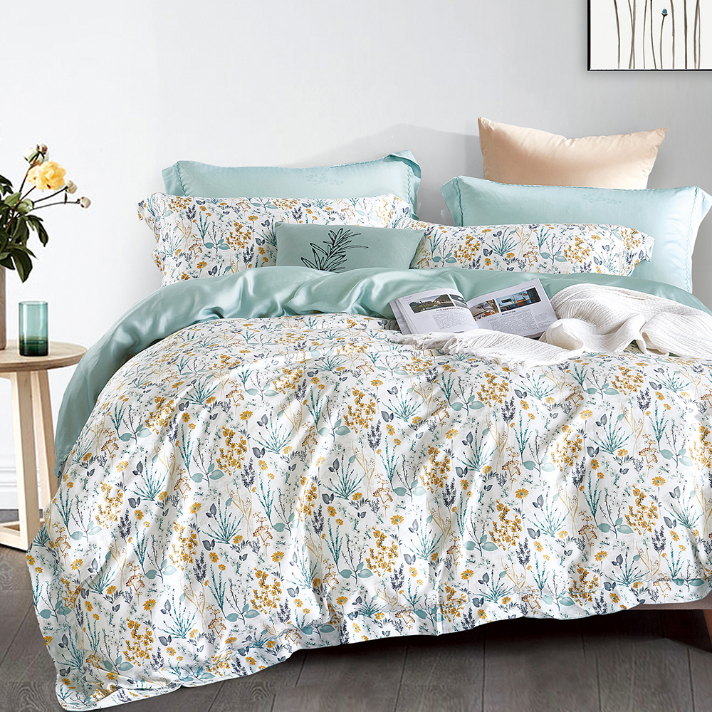 Ania Casa 克莉絲 天絲 100% TENCEL 單人鋪棉兩用被套床包三件組