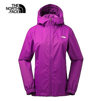 The North Face北面女款紫色防水透氣連帽衝鋒衣|3L8LJD8