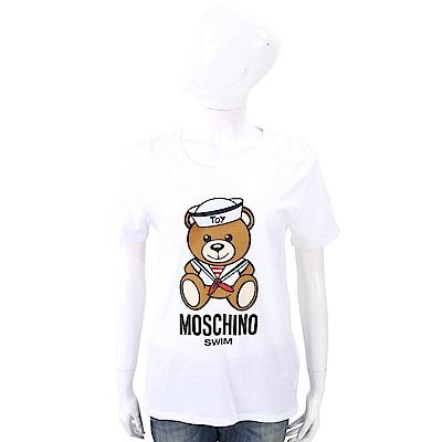 MOSCHINO Swim 水手泰迪熊寶寶白色棉質T恤