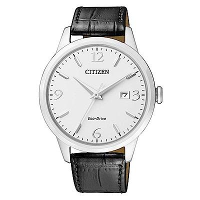 CITIZEN星辰 光動能 雅痞時尚腕錶(BM7300-09A)-白/40mm