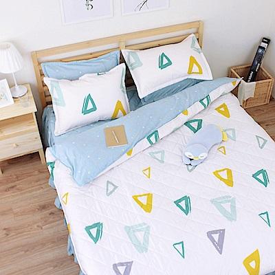 艾莉絲-貝倫 重溫時光 100%純棉 四件式雙人AB版雙面鋪棉床罩組