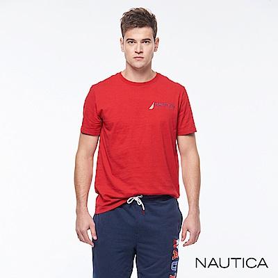Nautica 經典圖騰短袖T恤-紅色