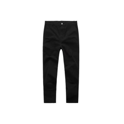 NAVY-窄管彈力修身褲-情侶款(三色)-男【UNA046】