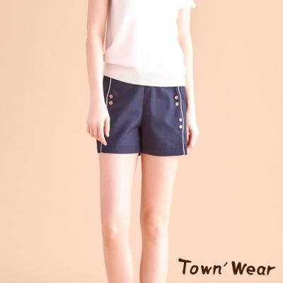 【TOWNWEAR棠葳】海軍風排釦短褲